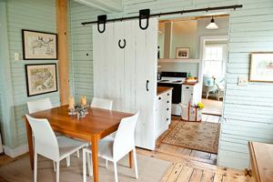 6 ý tưởng tiết kiệm không gian từ cửa trượt barn door