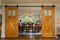 Cửa trượt barn door phòng bếp, thay đổi tư duy cửa phòng bếp